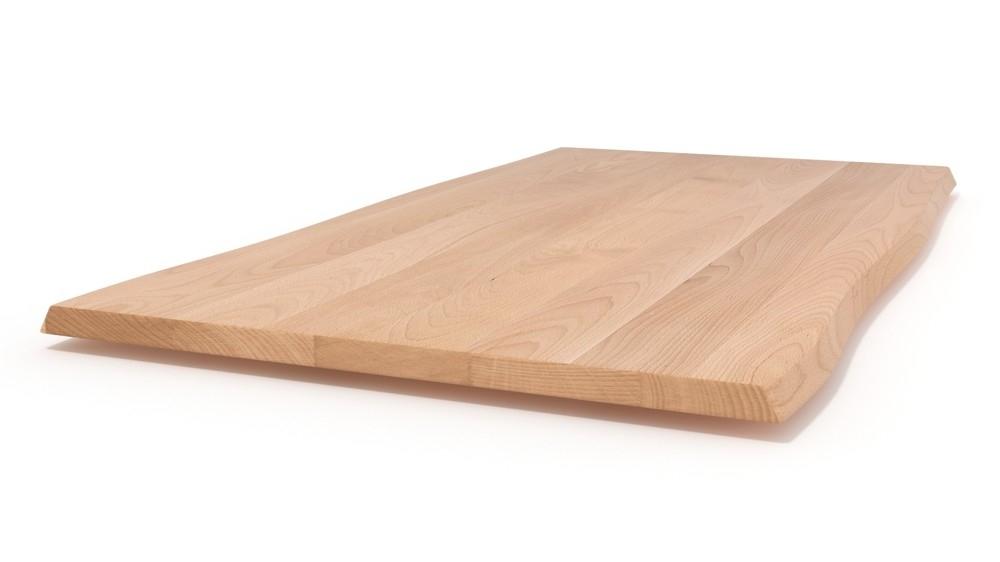 Tischplatte massivholz baumkante  Tischplatte nach Maß mit natürlicher Baumkante - aus Massivholz