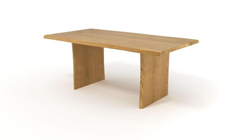 esstisch nach ma aus massivholz mit nat rlicher baumkante. Black Bedroom Furniture Sets. Home Design Ideas